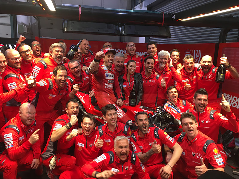 Mission Winnow Ducati team in joy in Qatar GP